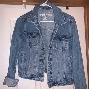 Woman's Cropped Jean Jacket